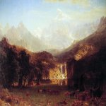 Albert Bierstadt (1830-1902)  The Rocky Mountains: Lander's Peak  Oil on canvas, 1863  73 1/2 x 120 5/8 inches (186.7 x 306.7 cm)  Metropolitan Museum of Art, Manhattan